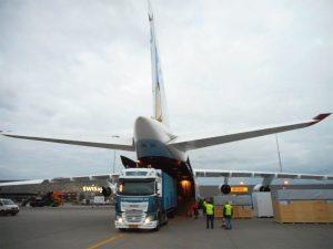 2 x 40ft container voor Antonov.